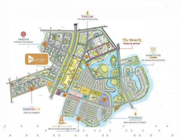 Tổng hợp các phân khu trong khu đô thị thương mại Vinhomes