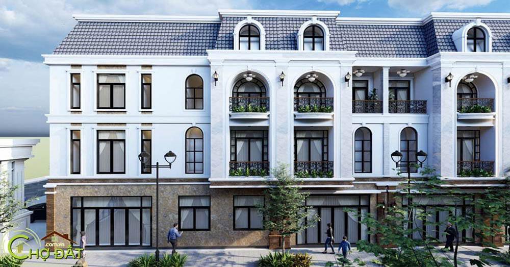 Phối cảnh hình ảnh thực tế Khu nhà ở Đất nền nhà phố Bà Rịa Vienna Town Chợ Đất