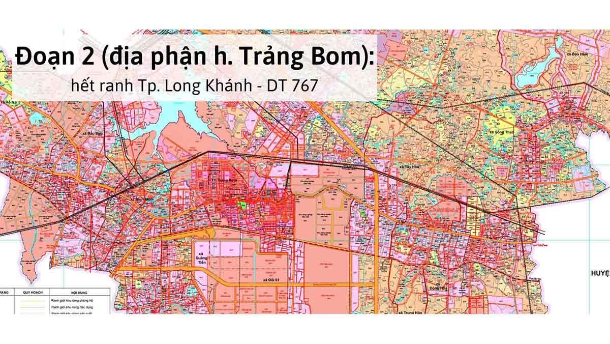 Tuyến đường DT772 Trảng Bom Xuân Lộc kết nối hạ tầng Đông Đông Bắc xung quanh sân bay Long Thành