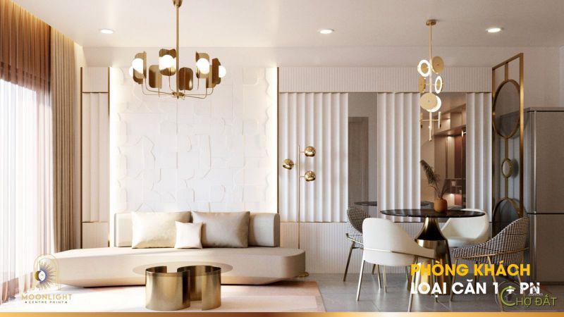 Thiết kế căn hộ 1 phòng ngủ dự án Moonlight Centre Point