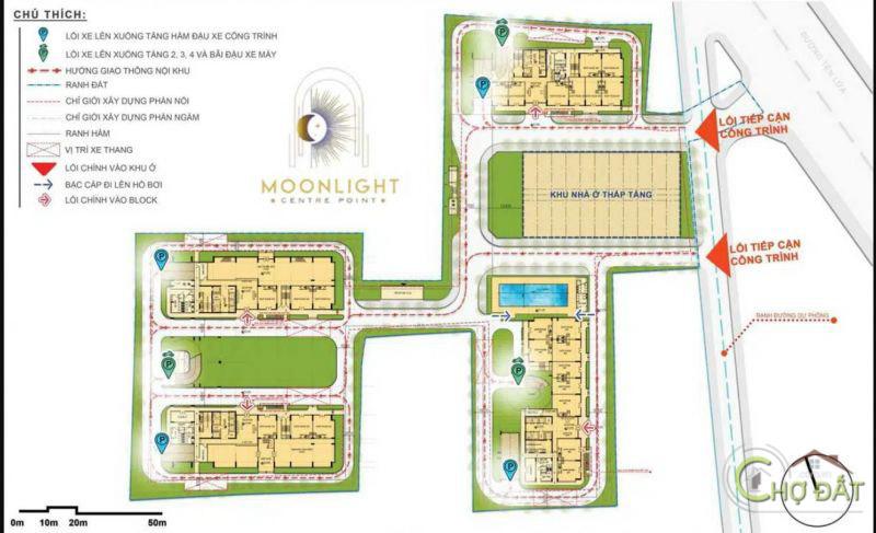 Vị trí dự án Moonlight Centre Point