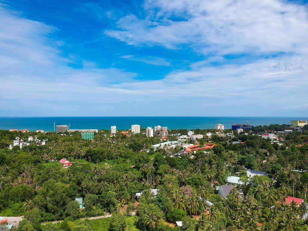 Flycam Hàm Ninh Seaside - Đất nền khách sạn biển nghỉ dưỡng Phú Quốc được phép xây dựng 8 tầng