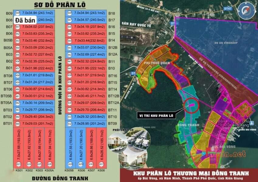 sơ đồ khu phân lô đồng tranh bãi vòng hàm ninh đất nền nghỉ dưỡng khách sạn phú quốc