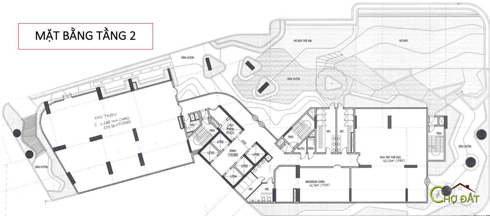 Mặt bằng tầng dự án căn hộ chung cư Thảo Điền Green Quận 2