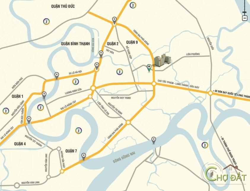 Vị trí dự án chung cư The Eastern City