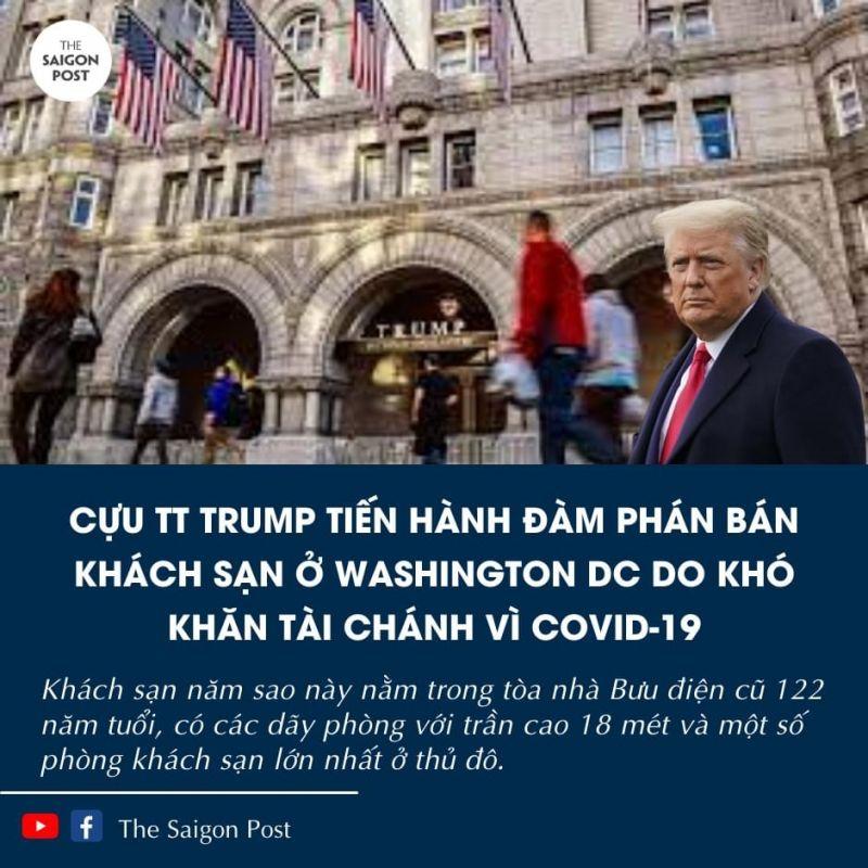 thumb_[Thế Giới] Cựu tổng thống Mỹ Donald Trump bán khách sạn vì dịch Covid 19