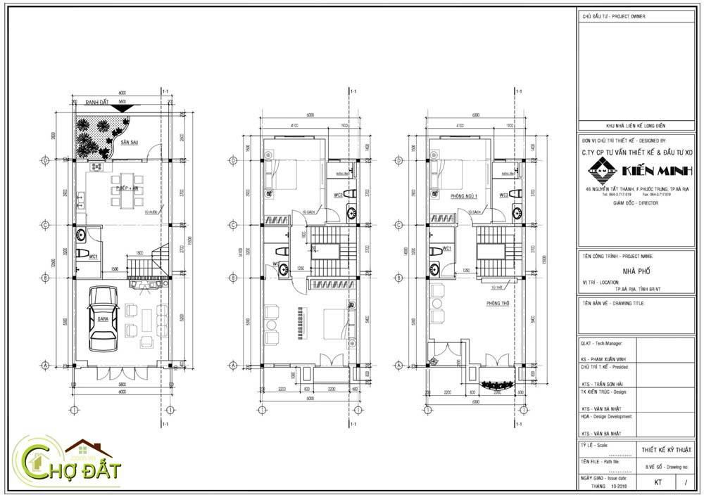 Bản vẽ thiết kế xây dựng Nhà phố Vienna Town Bà Rịa