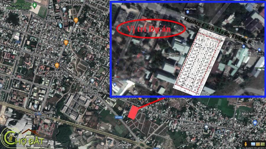 vị trí google map Khu nhà ở Đất nền nhà phố Bà Rịa Vienna Town Chợ Đất